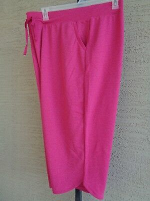 7b2e0c79ce5 Just My Size 4X French Terry   Jersey Knit Tie Waist Pocket Capris Berry  Heth