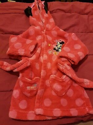 minnie mouse baby girls 3-6 months dressing gown