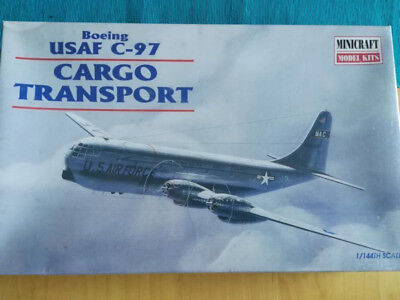 Minicraft Boeing C-97 Stratocruiser Cargo Military Transport Model Kit Unused