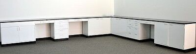 Laboratory Furniture Used 32' ..  / Cabinets / Casework / Lab Benches / Steel-