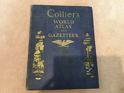 Collier's World Atlas and Gazeteer 1940 edition with Occupied Territories