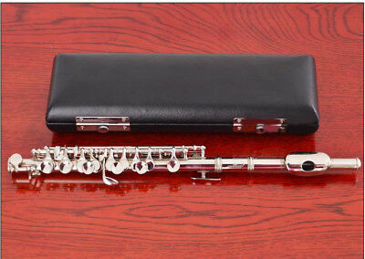 E10 C Key Silver Plated Professional Musical Instrument  Piccolo With Case Bag O