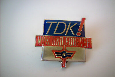 Pin, Ansteck Pin, TDK ! Now and forever, neu und exzellent!!!