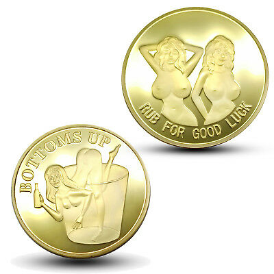 Lucky Cup Gold Bitcoin Commemorative Round Coin Art Collection Craft Travel Gift