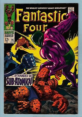 Fantastic Four # 76 Fn+ (6.5)  Silver Surfer Appearance - Us Cents Copy