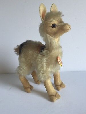 "Vintage STEIFF Llama with Original Tag 6"" tall Excellent Condition"