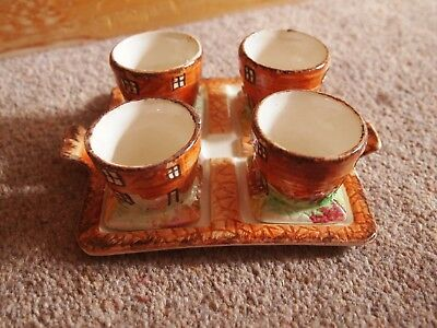 Price Kensington Cottage Ware 4 Egg Cups and Matching Base VGC