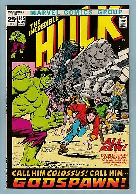 Incredible Hulk # 145 Vfn+ (8.5) Origin Retold - Glossy High Grade Cents - Giant