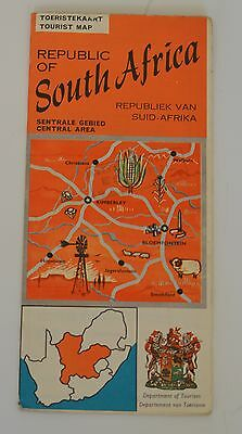 ☆ South Africa ☆ Central Area ☆ Very Nice Old Map