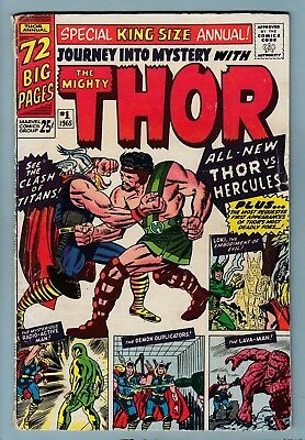 JOURNEY INTO MYSTERY ANNUAL # 1 GVG  THOR- 1st HERCULES APPEARANCE- CENTS- 1965