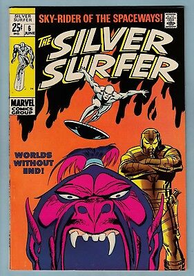Silver Surfer # 6 Vfn (8.0) Lovely Tight & Glossy High Grade Us Cents Copy_Giant