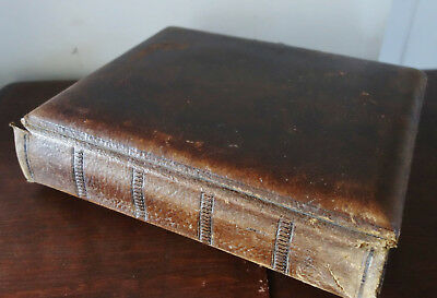 old edwardian leather bound photo album