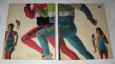 Nike Apparel 1989 vintage full page magazine advertisement ad Terry Brahm runner