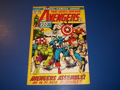 Avengers #100 Bronze Age Barry Smith Every Avengers Ever Wow VG+