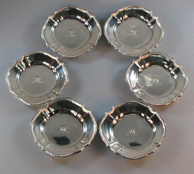 Fine Set of Six Tiffany & Co Sterling Silver Small Dishes 163.4 grams No Reserve