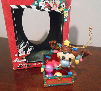 Warner Brothers Looney Tunes Taz Christmas Ornament in Original Box