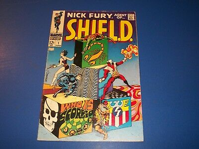 Nick Fury Agent of Shield #1 Silver Age Steranko Key Wow VG+