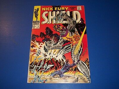 Nick Fury Agent of Shield #2 Silver Age Fine-/Fine Steranko Beauty