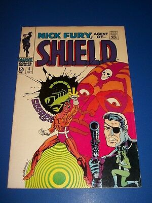 Nick Fury Agent of Shield #5 Silver Age Steranko Solid Fine-