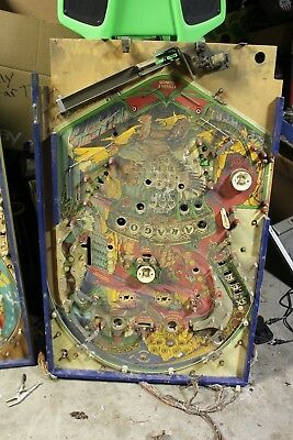 Bally Paragon Pinball Machine Playfield With Some Parts And Wiring
