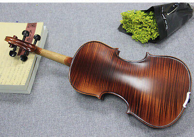 E15 Handmade 4/4 Full Size Wooden Violin Beginners Practice Musical Instrument M