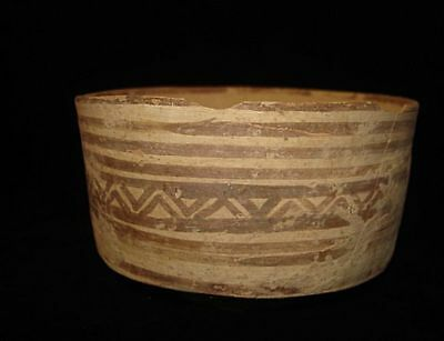 LARGE!   ANCIENT PAINTED BOWL  AMAZING!  5000 years old! 3000BC~~~no reserve