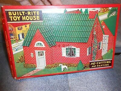 Vintage Built Rite Doll House Set in Box Never Used #8