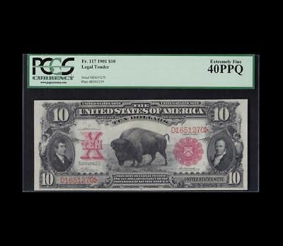 1901 $10 Bison Legal Tender Pcgs Extremely Fine 40 Ppq