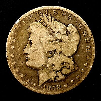 1878 P ~**1ST YEAR ISSUE**~ Silver Morgan Dollar Rare US Old Antique Coin! #233