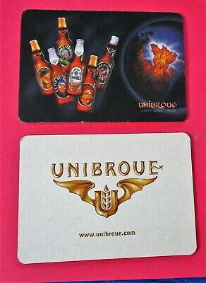 Quebec International Medals Won FR L006145 BEER COASTER UNIBROUE Canada