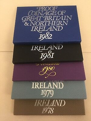 Collection of Six (6x) Great Britain and North Ireland Sets 1978-1982+1971
