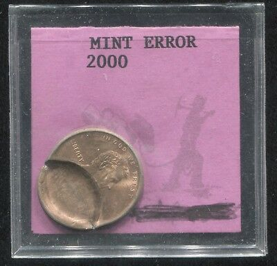 Nice Error! 2000 Lincoln Memorial Cent Indented Partial Brockage