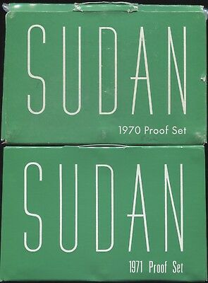 1970 & 1971 Sudan 8-Coin Proof Set Collection in Original Mint Packaging!