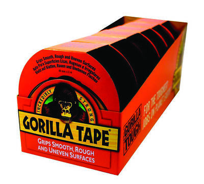 Gorilla 3044001 Tape Adhesive 11m x 48mm 6 Pack For Fix Patch Seal Repair Black