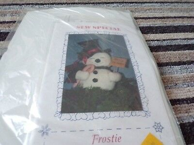 "**Vintage Fabric Needlecraft Sewing Kit 17"" Frostie the Snowman**"