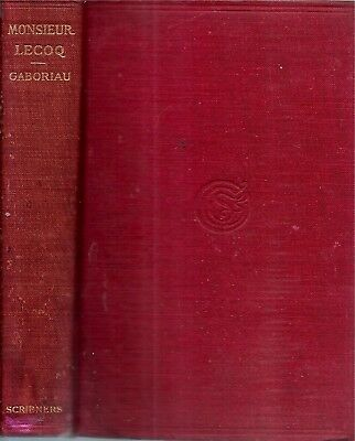 Rare 1902 Emile Gaboriau Murder Detective Mystery Illustrated 4 Full Page Prints