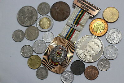 World Coins & Medals Lot With Many Old Coins A85 Rcver16