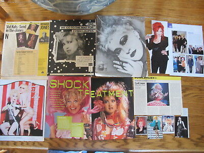 Cyndi Lauper French Us  Clippings