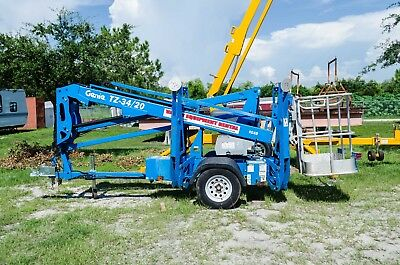 Genie TZ34-20 Towable Boom Lift, 40' Height, 20' Outreach,2013,Only 234 Hours