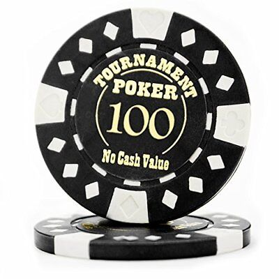 Professional Tournament Hot Stamp 12.5g Poker Chips, $100, 25-pack