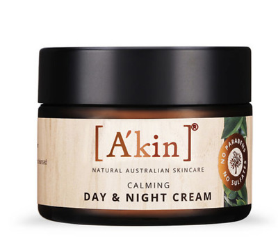 A'kin Sensitive Calming Day & Night Cream Natural Soothing Skin Care Lotion 50ml