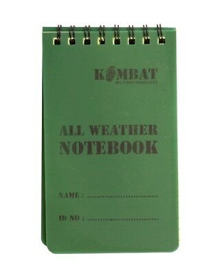 All Weather Waterproof Notepad notebookarmy Cadets camping format A6 50 pages