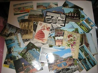 Bulk Lot Collection Of 123 Vintage / Antique Postcards: Mostly 1960s Holidays.