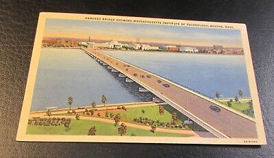 Old Postcard<BOSTON, MASSACHUSETTS>{EARLY VIEW OF HARVARD BRIDGE & M.I.T.}