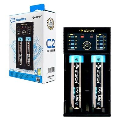 Efan C2 Intelligent Fast USB AA, AAA Battery Charger also charges Li-Ion 18650..