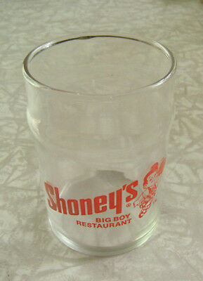 Shoney's Big Boy Restaurant Glass