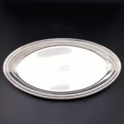 Vtg Tiffany & Co Sterling Silver Oval Tray Dish 18167 Heavy 468 grams circa 1911