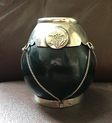 Vintage Yerba Mate South American Drink Drinking Vessel Made from a Gourd