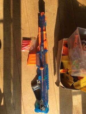 nerf gun Mega Centurion Blue With Stand And Bullets