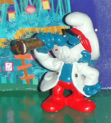 Vintage Captain Papa Smurf With A Telescope 1981 Smurf Lot